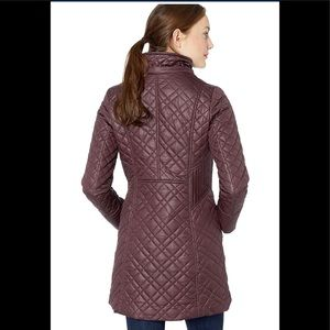 88450a3d690 Via Spiga Jackets & Coats - Via Spiga Women Center Zip Diamond Quilt Marsala